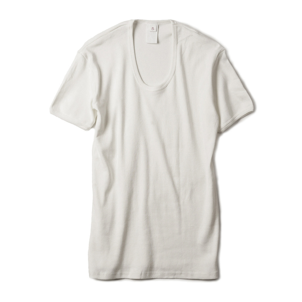 East Germany U-Neck T-Shirts 'White'