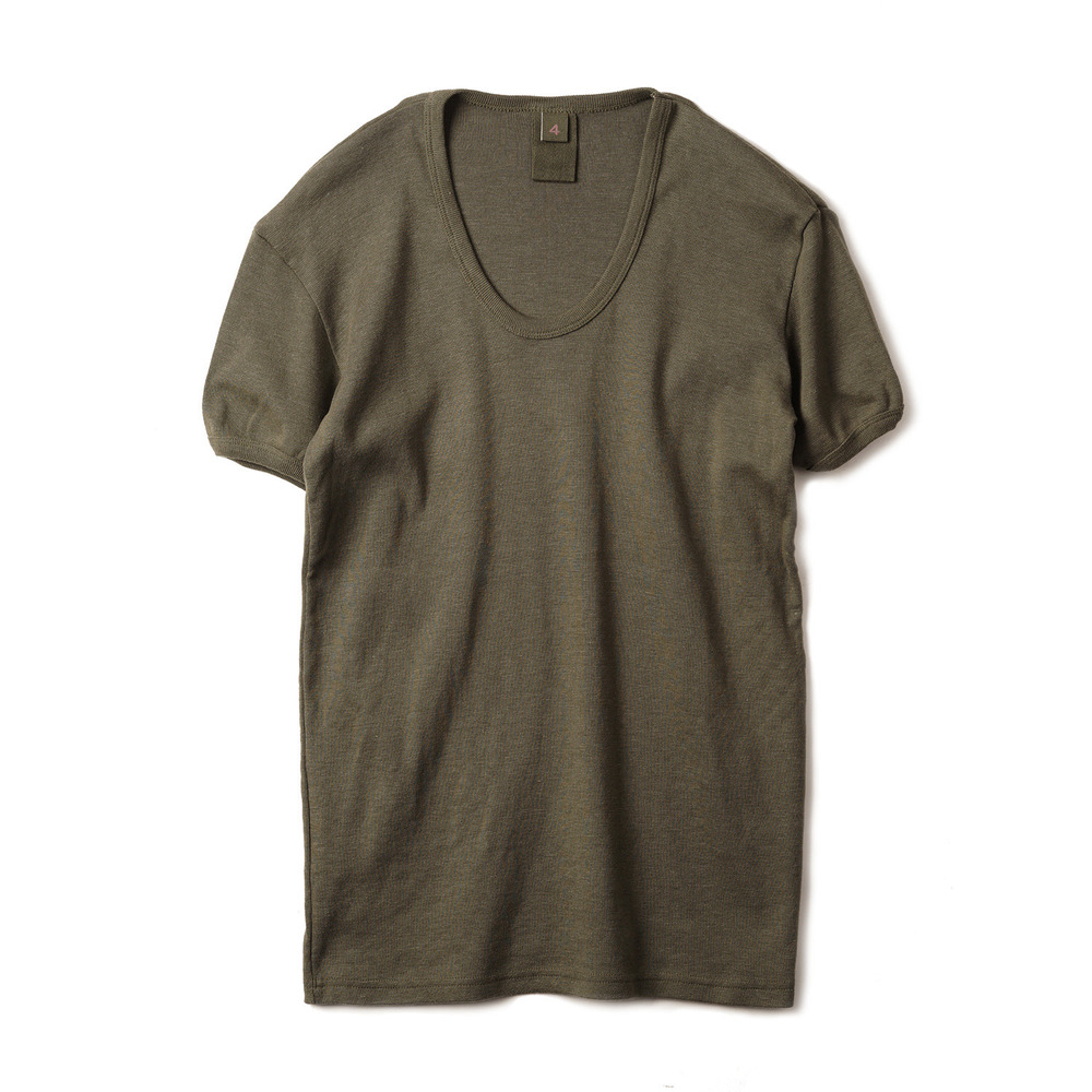 East Germany U-Neck T-Shirts 'Olive'