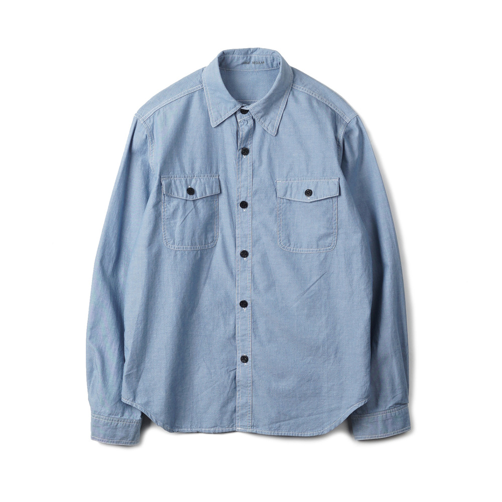 US Type NAVY Chambray Shirts L/S 'Blue'