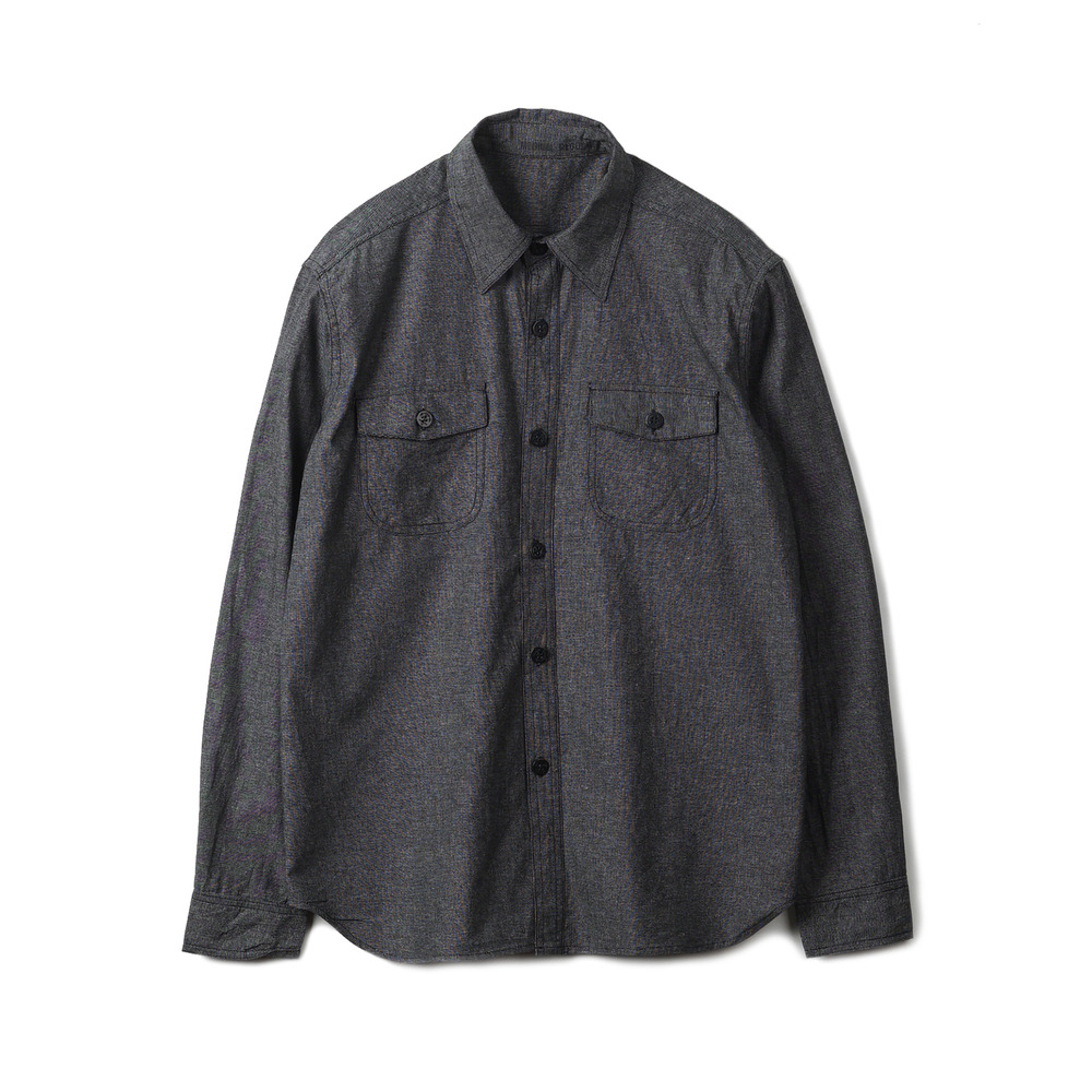 US Type NAVY Chambray Shirts L/S 'Black'