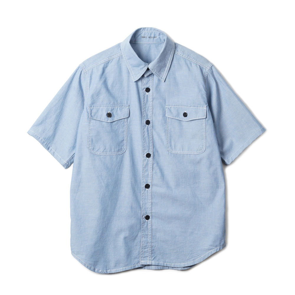 US Type NAVY Chambray Shirts S/S 'Blue'
