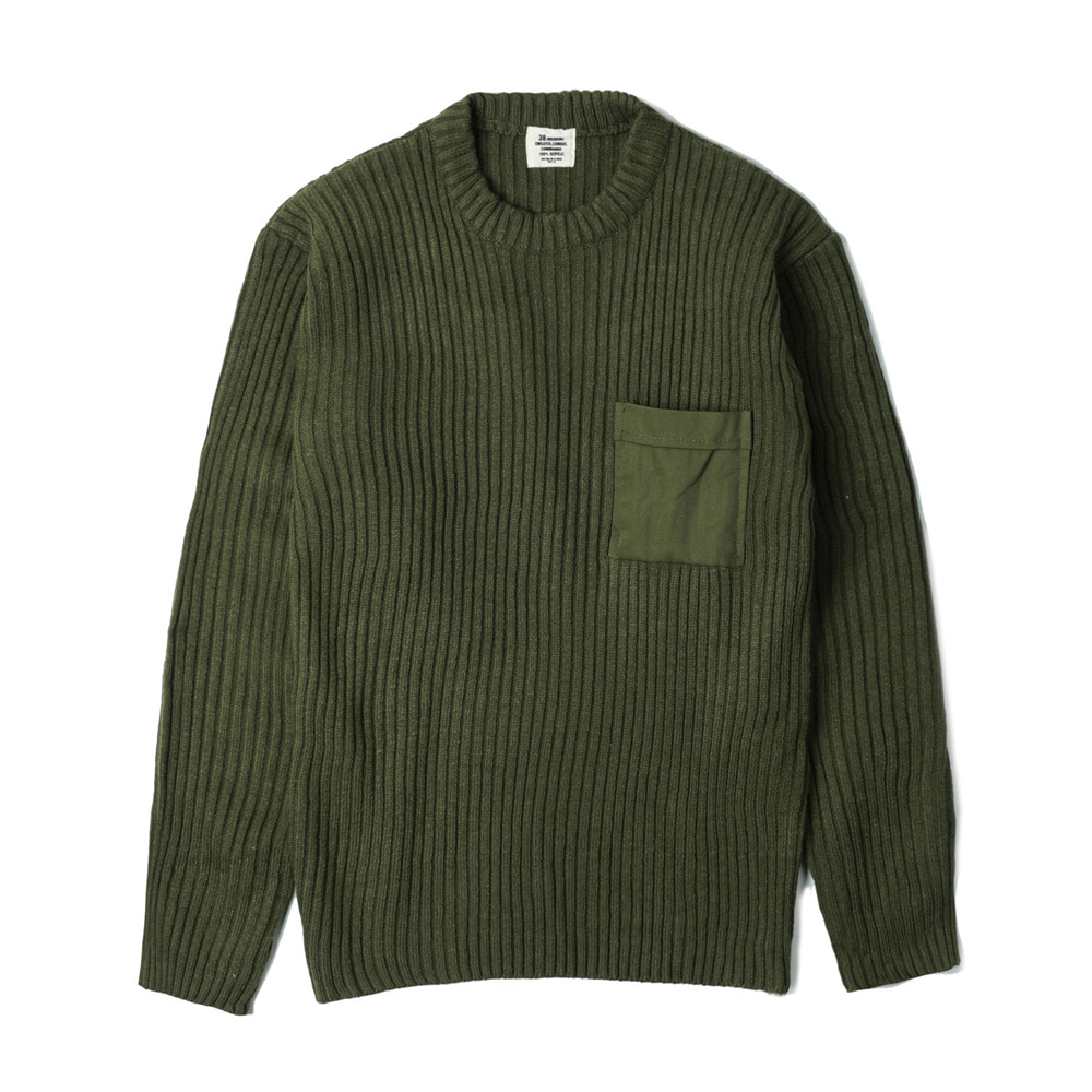 US Type Commando Sweater with Pocket 'Olive'