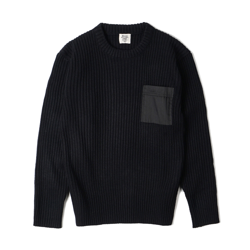 US Type Commando Sweater with Pocket 'Black'