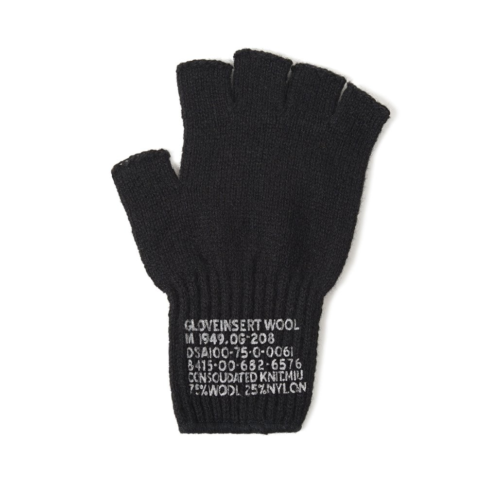 US Military Wool Fingerless Glove 'Black'