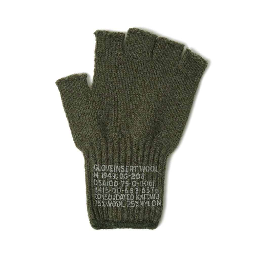 US Military Wool Fingerless Glove 'Olive'